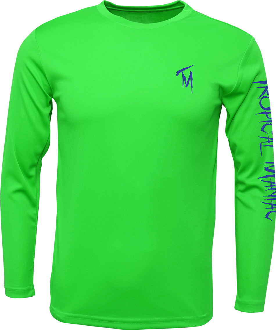TM Mens Compass Rose Long Sleeve Performance Crew Neck Tee