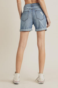 Risen Shorts - Girlfriend High Rise Light Blue