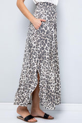 SweetLovely Animal Print Maxi Skirt