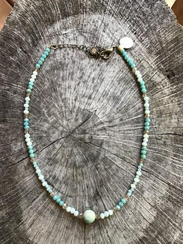 Blue Crystal Peruvian Turquiose Necklace