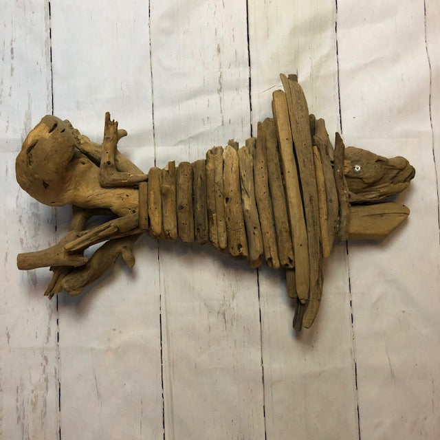 Handcrafted Decorative Driftwood Fish