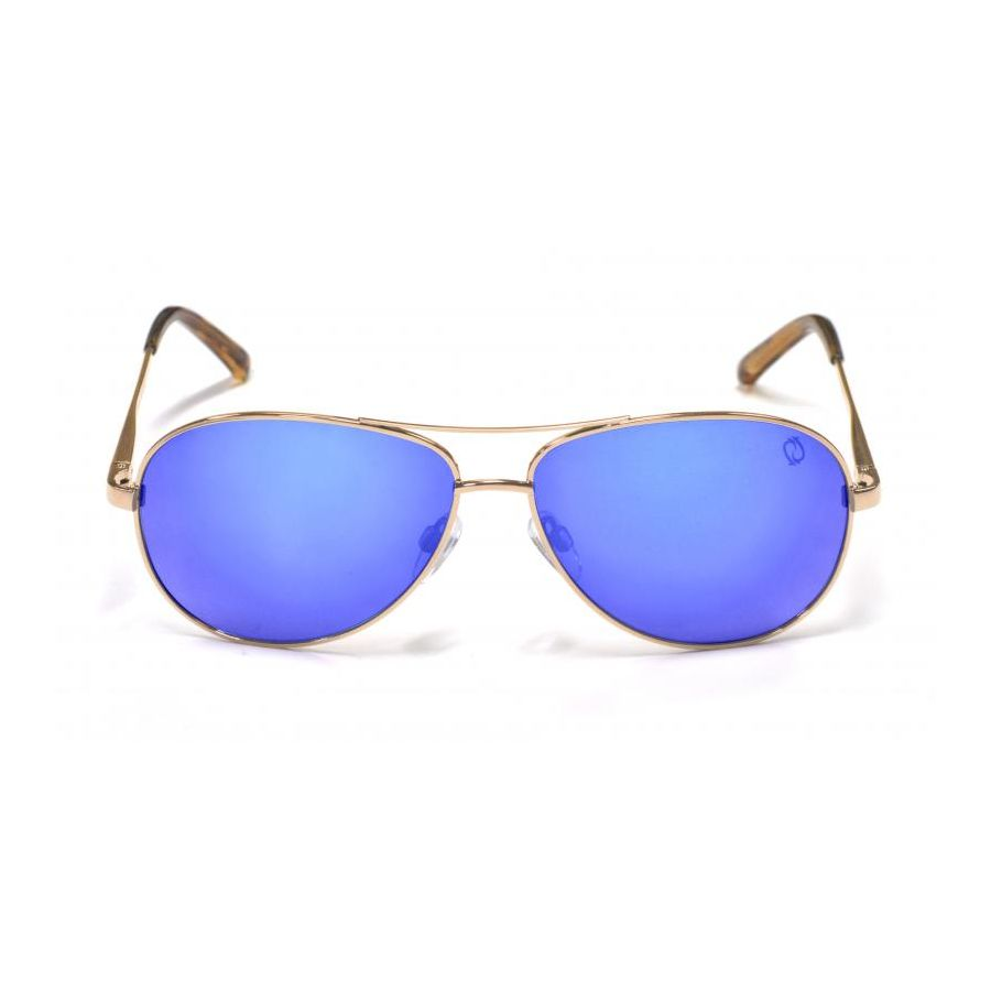 Redtail Republic Sandbar Gold/Blue Mirror Grey Polycarbonate UV Polarized Unisex Fishing Sunglasses