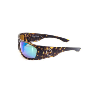 Redtail Republic Laguna Tortoise/Green Mirror Amber Glass UV Polarized Unisex Fishing Sunglasses