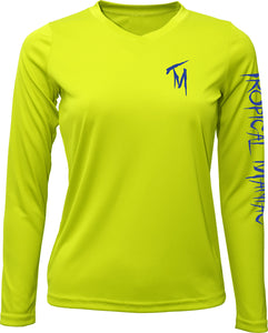 Ladies Sport Fishing Long Sleeve Performance V-Neck