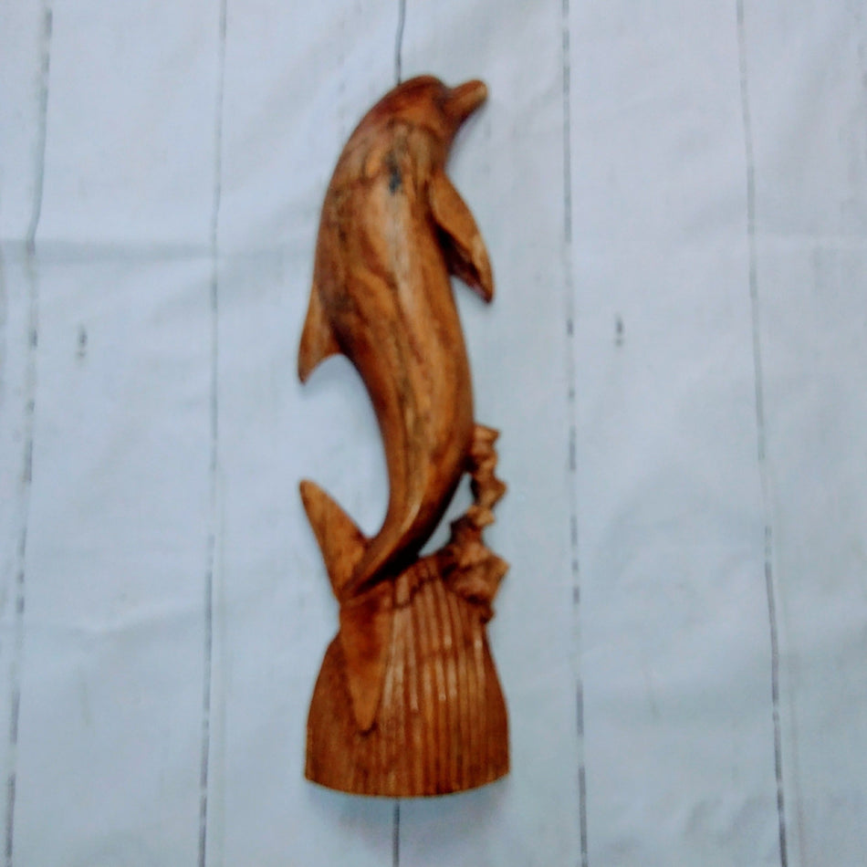 Decorative Wooden Dolphin Sculpture
