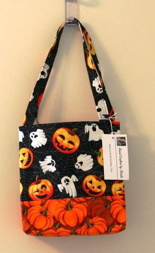 Halloween Trick or Treat Tote Party Bag 100% Cotton Hand Made in the U.S.A; NEW - Sheila Antell