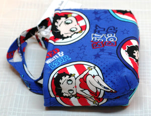 Child's Handbag Girl's Betty Boop Blue Hand Made in USA 100% Cotton NEW w Tags - Sheila Antell