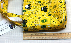 Snap Tote Hand Bag Child Age 7+ John Deere Yellow & Green Hand Made in USA NEW - Sheila Antell