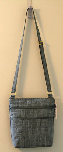 Crossbody Bag with 2 Outer & 2 Inner Pockets, Adjustable Strap Hand Made in USA - Sheila Antell