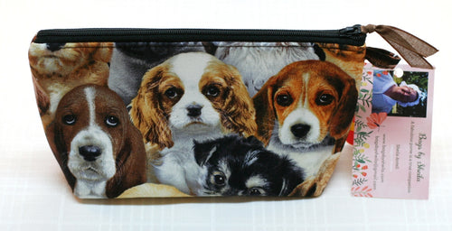 Women's Zippered Pouch Handbag Puppies Dogs Foam Interfacing Handmade in USA NEW - Sheila Antell