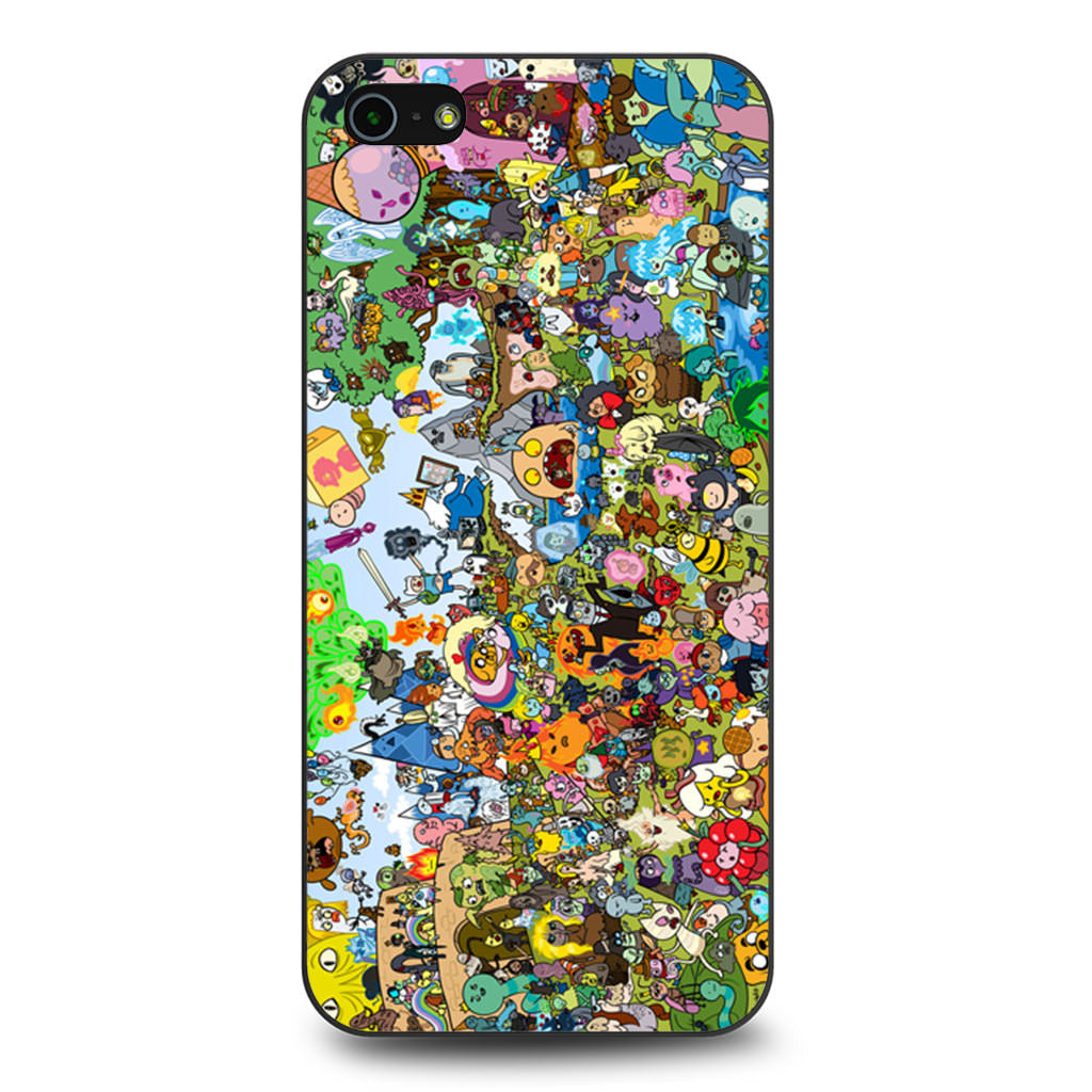Adventure Time All Characters iPhone 5 5s SE case