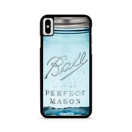 Blue Ball Glass Mason iPhone X case