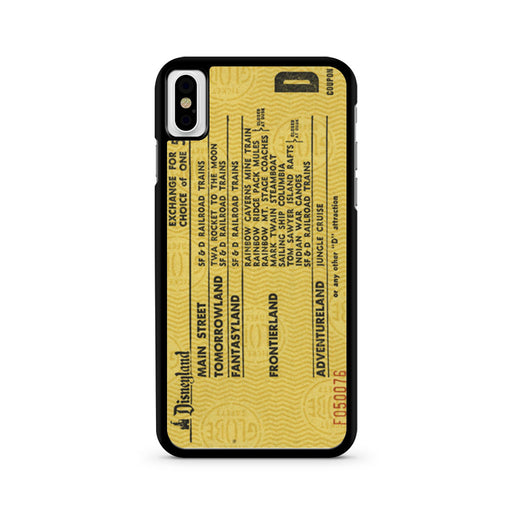 Disneyland Ticketbook iPhone X case
