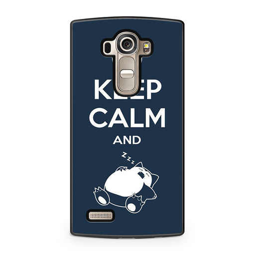 Keep Calm and Zzz Snorlax Pokemon LG G4 case