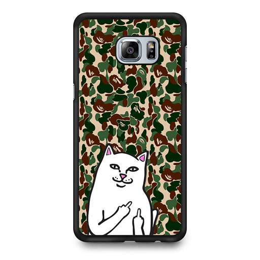 RipNDip Lord Nermal Cat Bape Camo Samsung Galaxy S6 Edge+ case