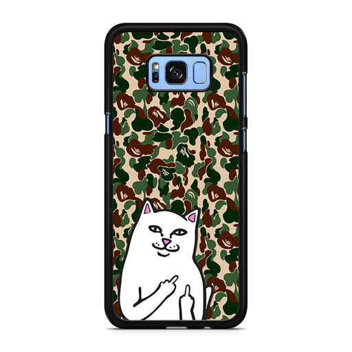 RipNDip Lord Nermal Cat Bape Camo Samsung Galaxy S8/S8+ case