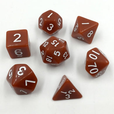 Opaque Caramel Dice 7pc/set Polyhedral Dice Rpg Dice