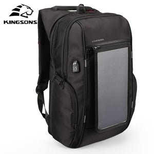 Kingsons Solar Panel Tech Outfitted Backpack - Take Off Travel Accessories