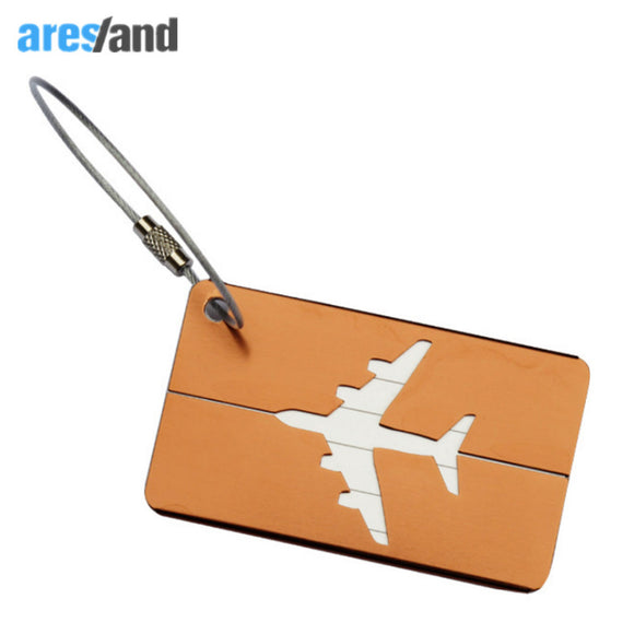 Aresland Mini Rectangle Aluminium Alloy Luggage Tags - Take Off Travel Accessories