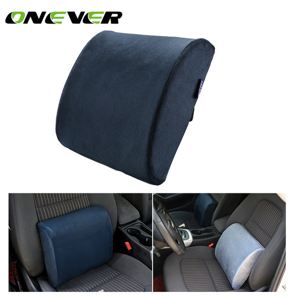 Onever Car Memory Foam Lumbar Back Support Cushion - Take Off Travel Accessories