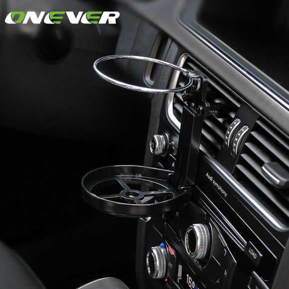 Onever Foldable Car Vent Cup Holder + Fan - Take Off Travel Accessories