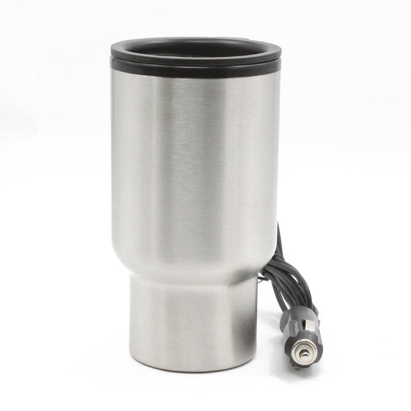 12V 450ml Stainless Steel Heated Travel Mug - Take Off Travel Accessories