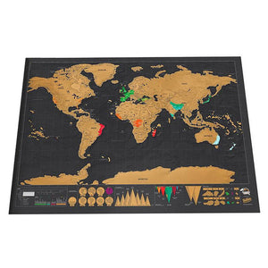 World Edition Scratch Map - 42*30cm - Take Off Travel Accessories