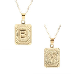Golden Necklace Initials