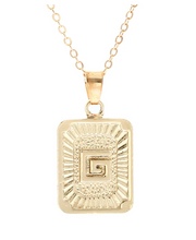 G small gold initial letter necklace