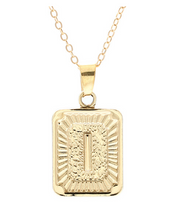 I small gold initial letter necklace