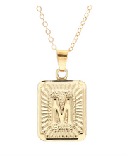 M small gold initial letter necklace