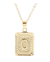 O small gold initial letter necklace