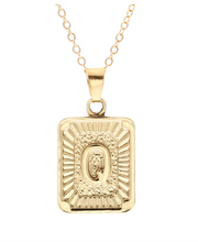 Q small gold initial letter necklace