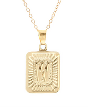 W small gold initial letter necklace