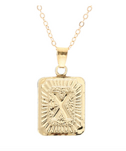 X small gold initial letter necklace