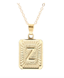 Z small gold initial letter necklace
