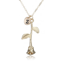 Rose Necklace gold initial z