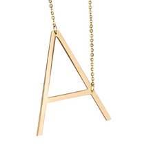 Initial letter necklace gold A