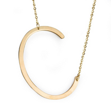 Initial letter necklace gold C