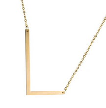 Initial letter necklace gold L