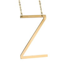 Initial letter necklace gold Z
