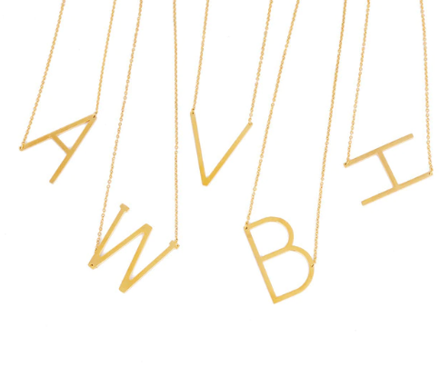Initial letter necklace gold love is blind netflix