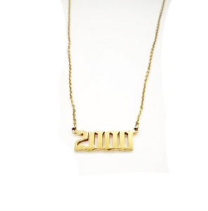 golden necklace year 2000