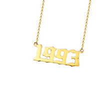golden necklace year 1993 personalised
