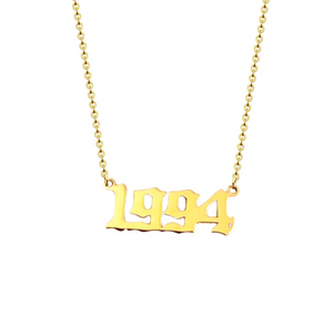 golden necklace year 1994 personalised