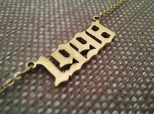 golden necklace year 1998 personalised