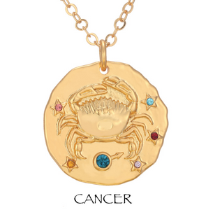 necklace with zodiac signs zodiac sign necklaces cancer