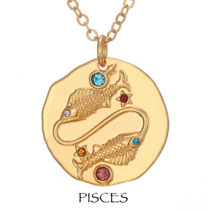 necklace with zodiac signs zodiac sign necklaces pisces