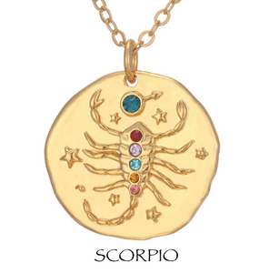 necklace with zodiac signs zodiac sign necklaces scorpio
