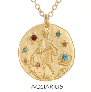 necklace with zodiac signs zodiac sign necklaces aquarius
